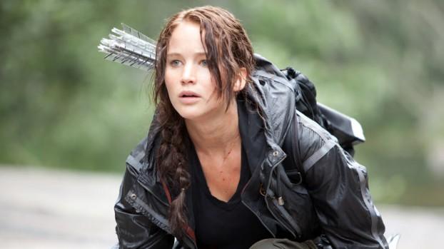 Jennifer Lawrence as Katniss Everdeen.