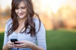 Teen Girl Using Smartphone