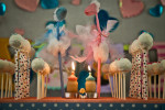 Candles & Cake pops at Baby Shower by Dhinal Chheda