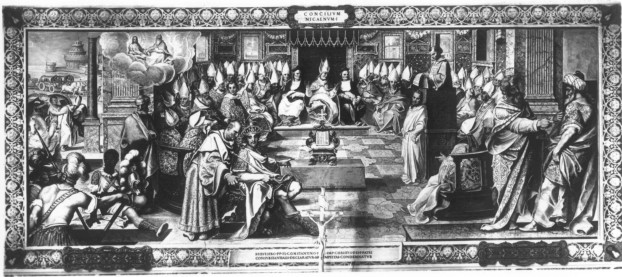 THE_COUNCIL_OF_NICEA_Fresco_in_the_Sistine_Salon_Vatican