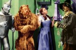 WIZARD OF OZ, THE  Index #: 18223 Date Released: 1939-08-25 Description: Full shot of Jack Haley as The Tin Man,  Bert Lahr as The Cowardly Lion, Judy Garland as Dorothy Gale, and Ray Bolger as The Scarecrow infront of the land of OZ. Special art work done for the 60th anniversary re-release. Personalities: GARLAND, JUDY BOLGER, RAY HALEY, JACK LAHR, BERT    Copyright: (c) 1939 Turner Entertainment Co., An AOL Time Warner Company. All Rights Reserved.