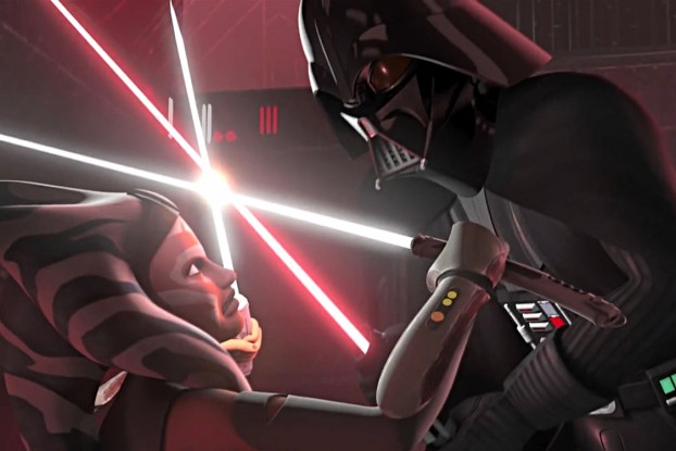 Star Wars Rebels: Ahsako vs. Darth Vader