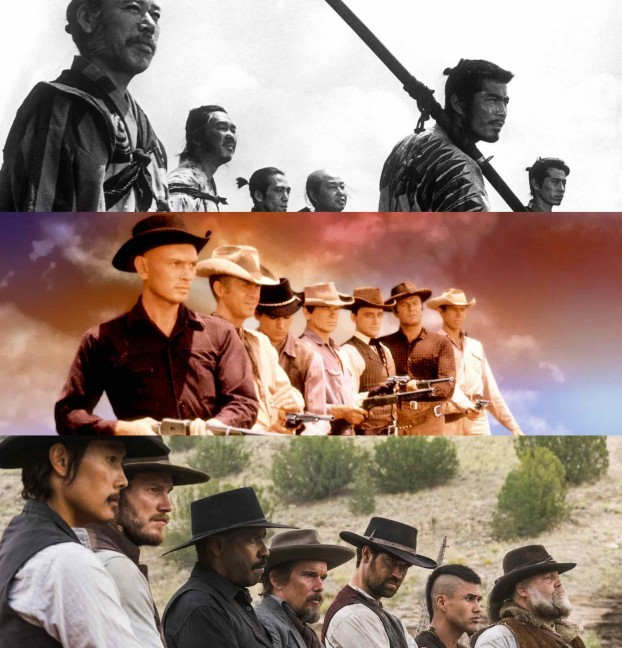 finding similarities in movies the seven samurai and the magnificent seven Samurai films and westerns share a number of similarities and the  westerns such as the seven samurai into the magnificent seven  samurais finding.