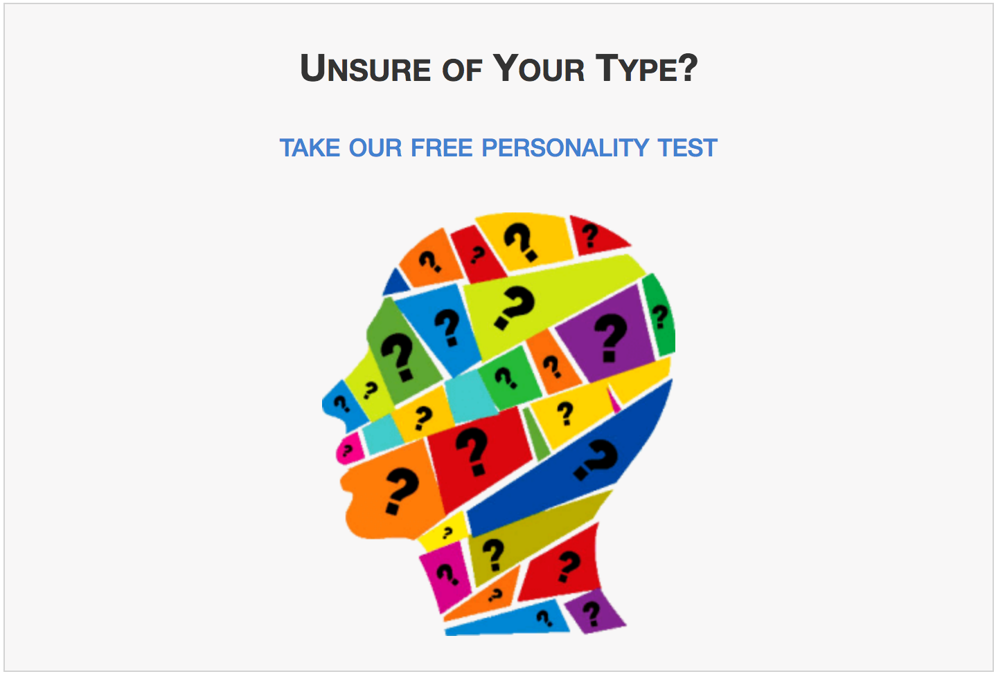 Photo personality test